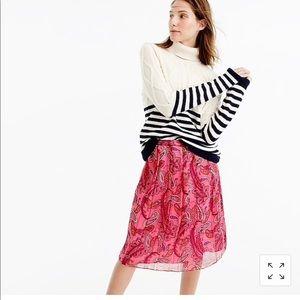 Jcrew pleated silk skirt